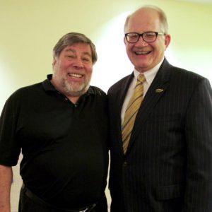 Woz with Dr. Mark B. Rosenberg President of Florida International University