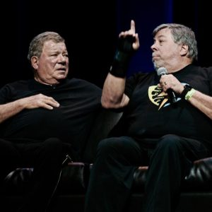 Shatner and Woz. Photo: Teodor Bjerrang-teodor@bjerrang.no