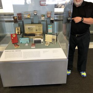 Radio Woz owned as a boy founding airport display.